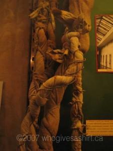 Devigny's ropes, close up
