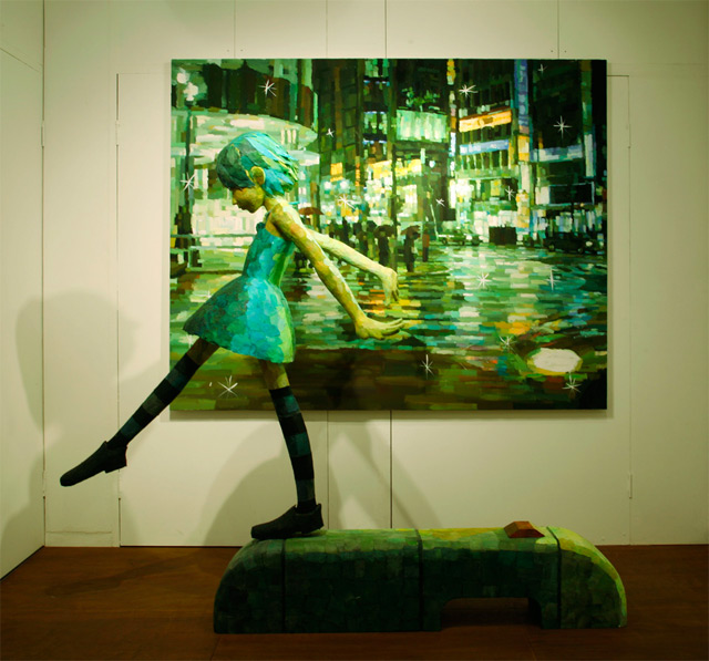 Shintaro Ohata combines sculpture and canvas in his art - Imgur